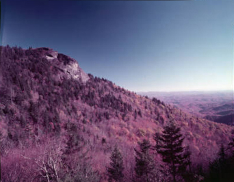 Picture of Grandfather Mountain taken by Hugh Morton in 1955