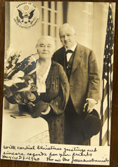 Josephus and Adelaide Daniels during his tenure as ambassador to Mexico, 1940