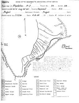 Map of Plantation P-7, 1942