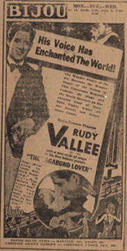 Bijou theatre advertisement