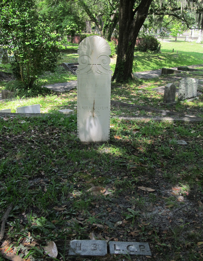 Oakdale Cemetery Wilmington Nc Map.Commemorative Landscapes Of North Carolina Henry Bacon Grave