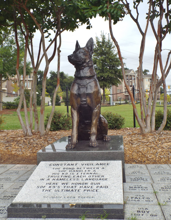 Source Special Operations Force Dog Memorial Fayetteville Photo Courtesy Of Rusty Long