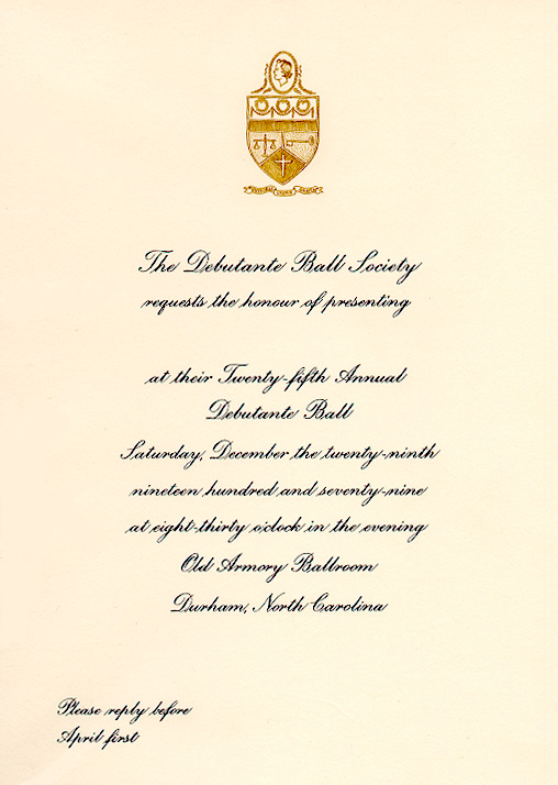 Debutante Ball Society of Durham Inc Records 19512009