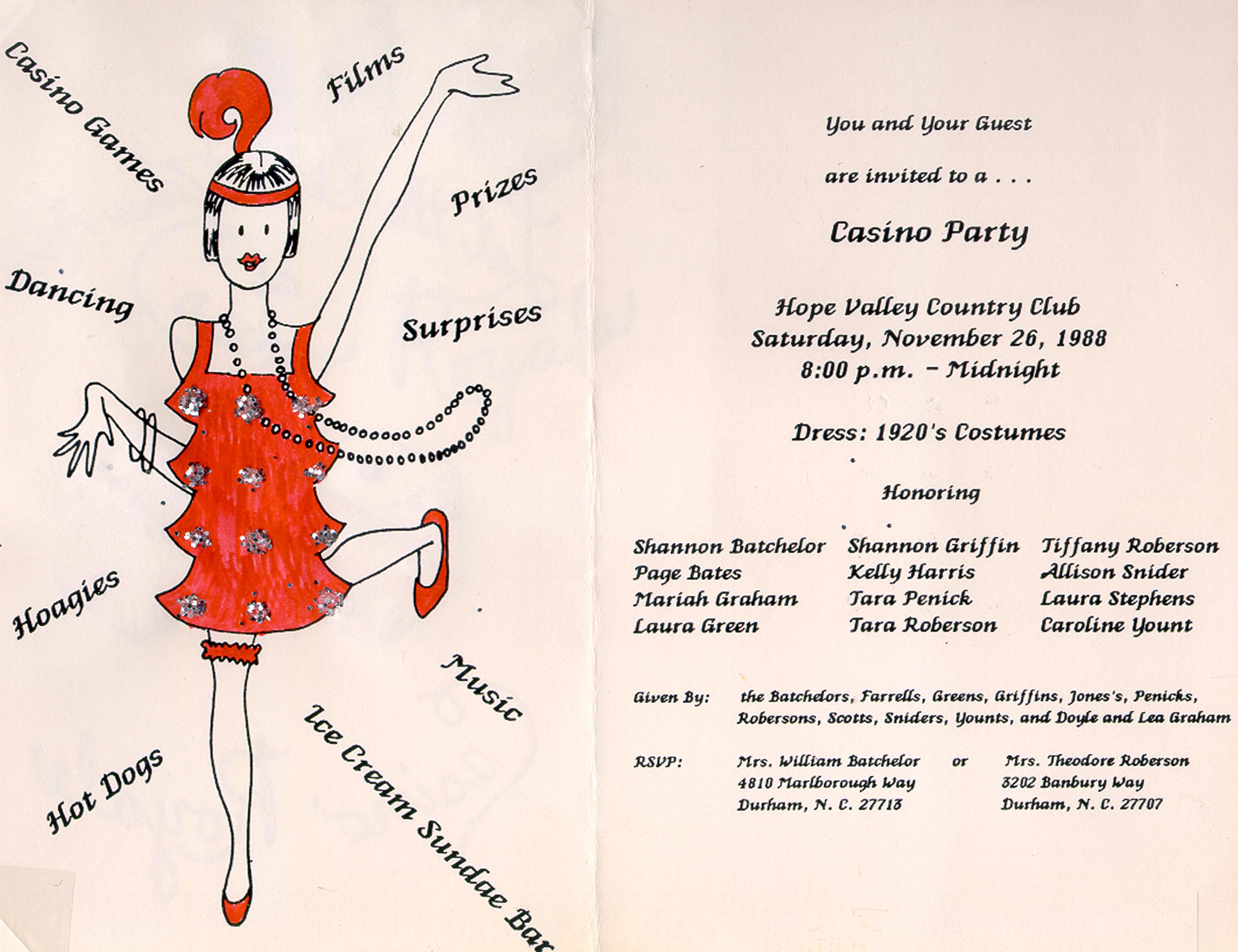 Debutante Ball Society of Durham Inc Records 19512009