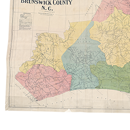 North Carolina Maps Brunswick County Map 1910