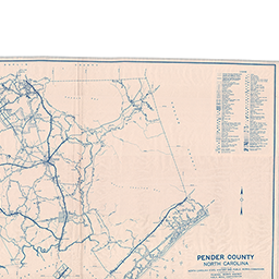 Pender County Nc Map.North Carolina Maps Pender County Highway Map 1938